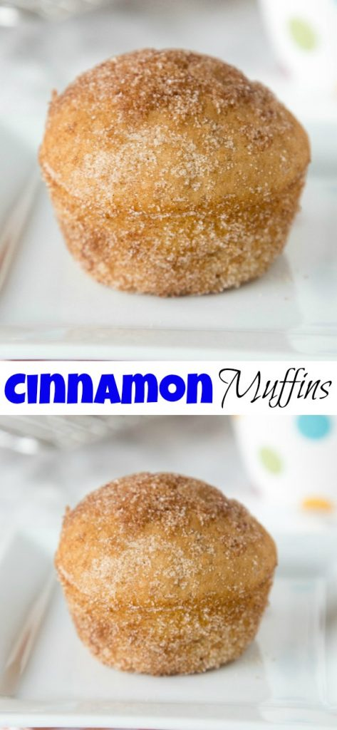cinnamon muffins on a plate close up