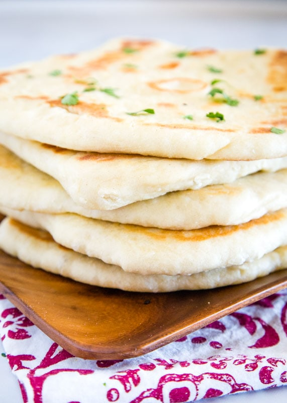 Naan bread is easy to make and goes great with curry and other Indian recipes