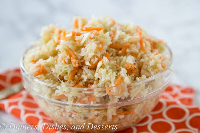 summer coleslaw in a bowl