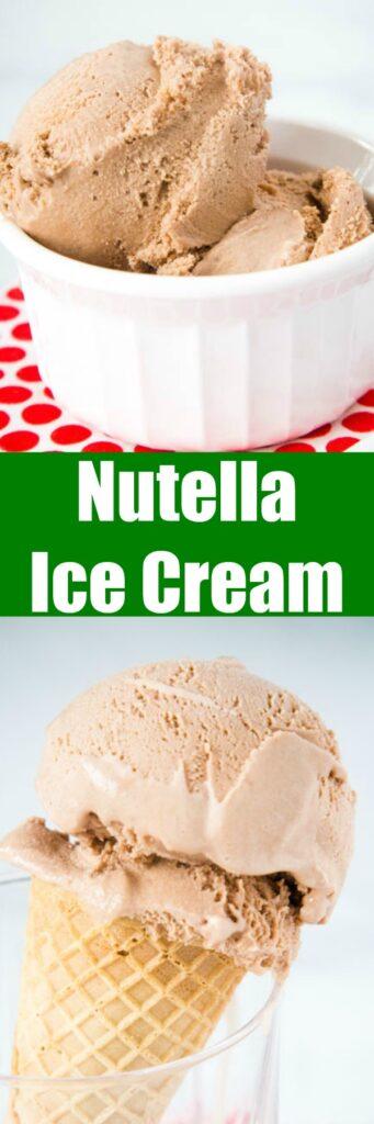 nutella ice cream close up