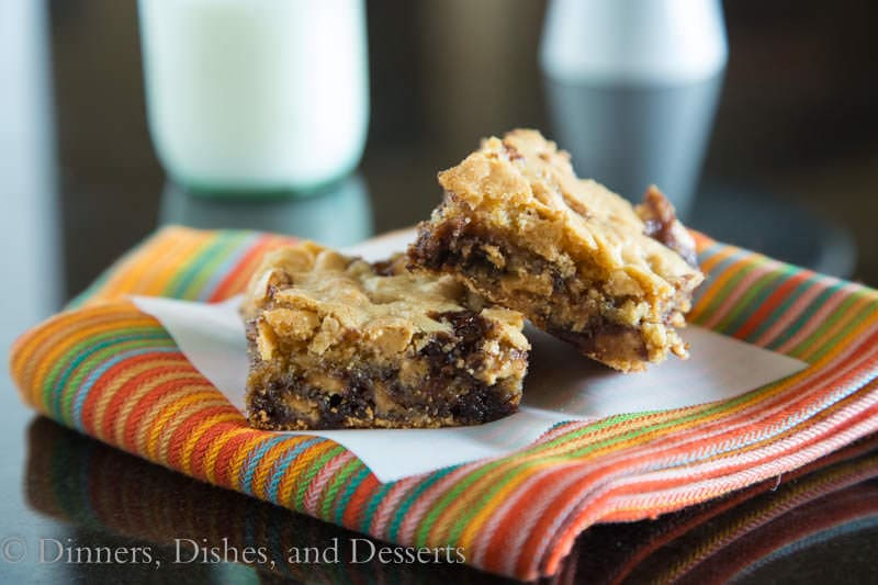 Double Peanut Butter Bars - loaded with lots of peanut butter and chocolate