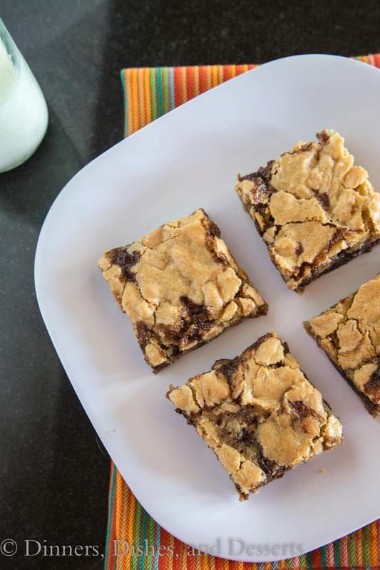 Double Peanut Butter Bars - peanut butter heaven!