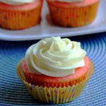 Strawberry Almond Cupcakes