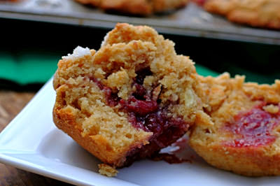 peanut butter and jelly muffins