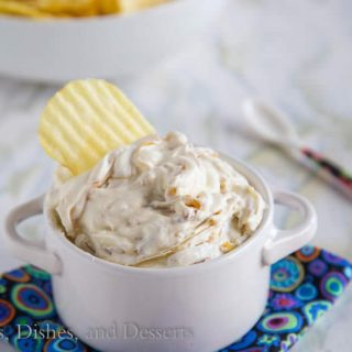 Caramelized Onion Dip {Dinners, Dishes, and Desserts}