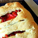 Fougasse Stuffed with Roasted Red Peppers