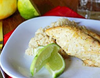 Citrus Garlic Chicken with Coconut Lime Rice