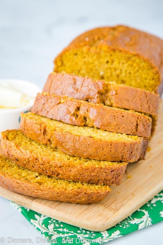 Sliced pumpkin bread recipe