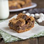 S'mores Cookie Bars - perfectly ooey, gooey, and chocolatey treat! {Dinners, Dishes & Desserts}