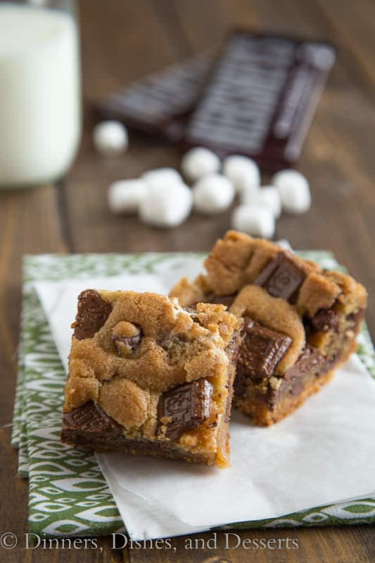 S'mores Cookie Bars {Dinners, Dishes, and Desserts} - 19+ of the BEST Summer Potluck Recipes Roundup