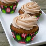 Pumpkin Cupcakes with Cinnamon Spiced Buttercream