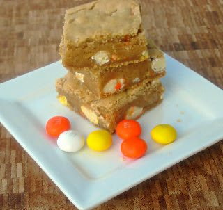 M&M Candy Corn Blondies