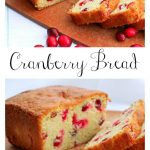 Fresh cranberries and orange are the perfect combination for a sweet and and tender bread.