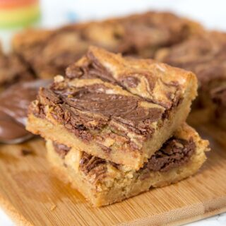 Nutella Swirl Bars