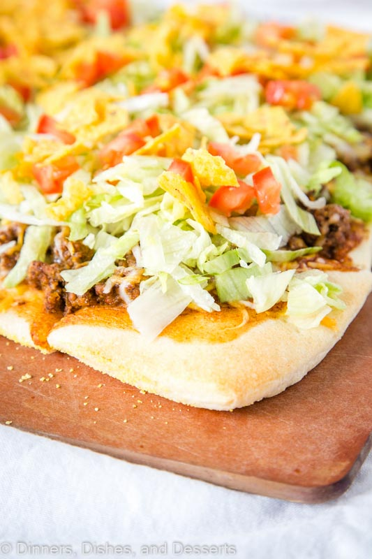 Tacos and pizza come together in one easy and tasty Taco Pizza