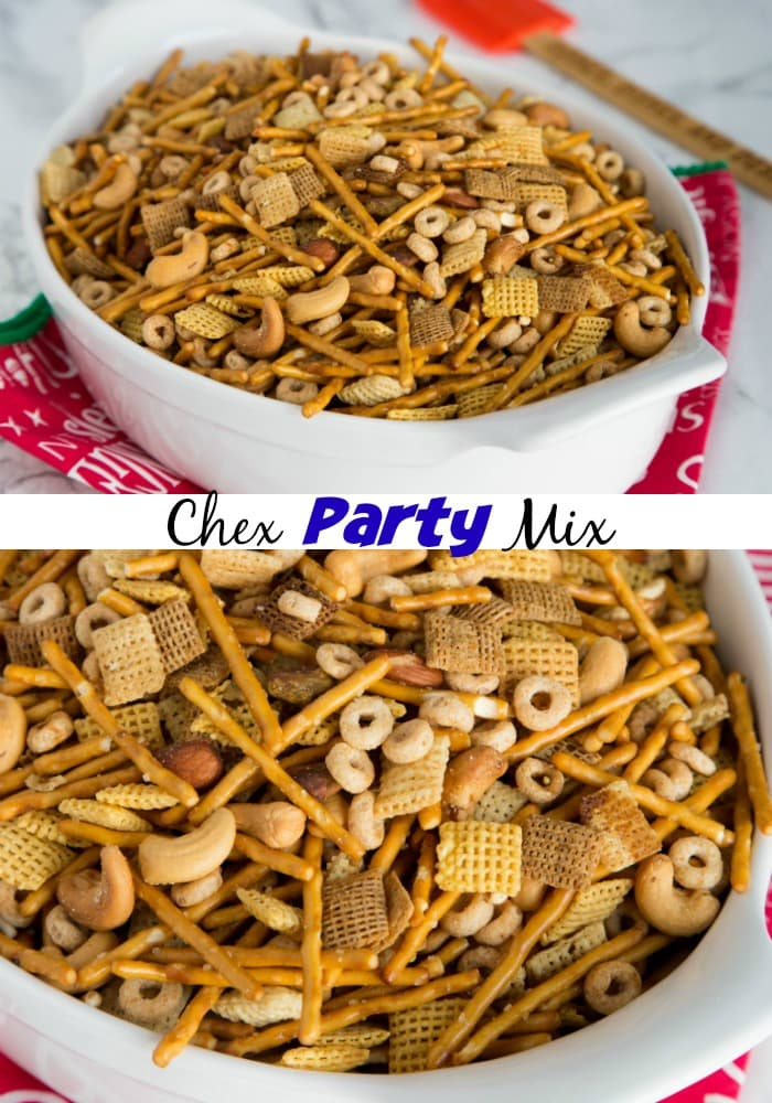Party Mix - a version of Chex Party mix that has been around for about 50 years! We make it every single year and is a staple for the holidays!