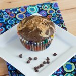 Double Chocolate Peanut Butter Swirl Muffins
