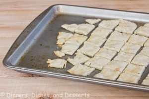 Rosemary Olive Oil Crackers on baking tray