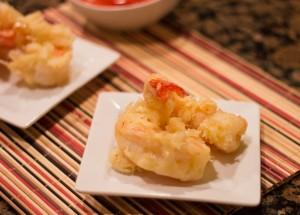 shrimp tempura on a plate