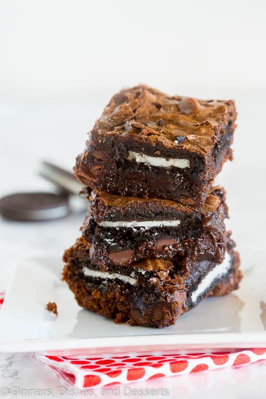 Fudgy homemade oreo brownies