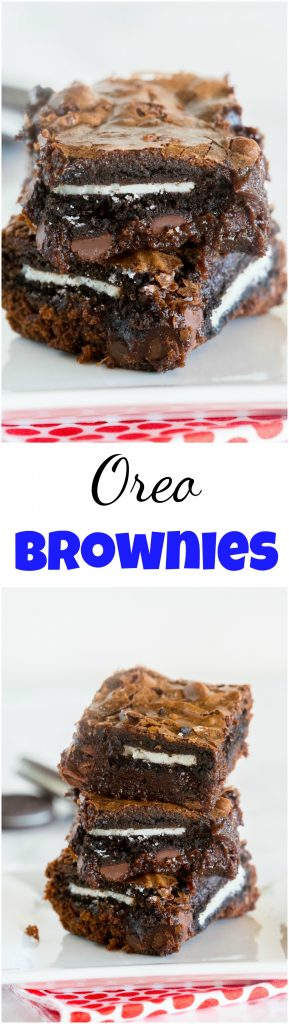 Fudgy brownies with Oreos