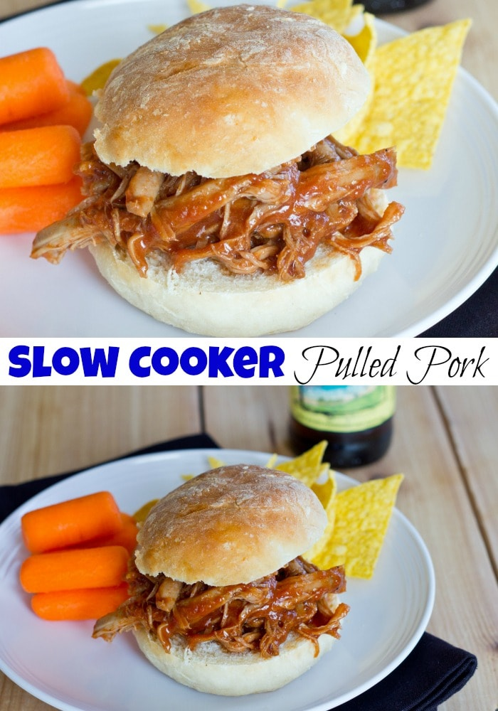 Barbecue Pulled Pork Sandwiches - slow cooker pulled pork that is tender, juicy and delicious. Cooked in a sweet and tangy barbecue sauce for the perfect bbq pulled pork sandwich!