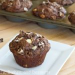 Chocolate Banana White Chocolate Chip Muffins