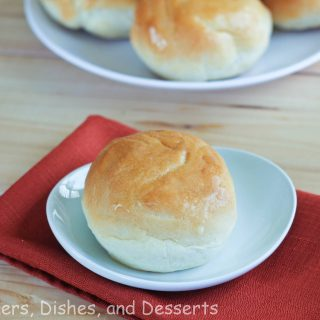 french bread dinner rolls on a plate