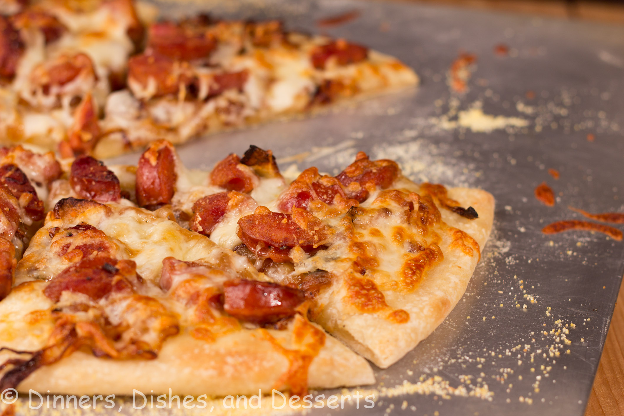 Caramleized Onion And Andouille Pizza Dinners Dishes And Desserts