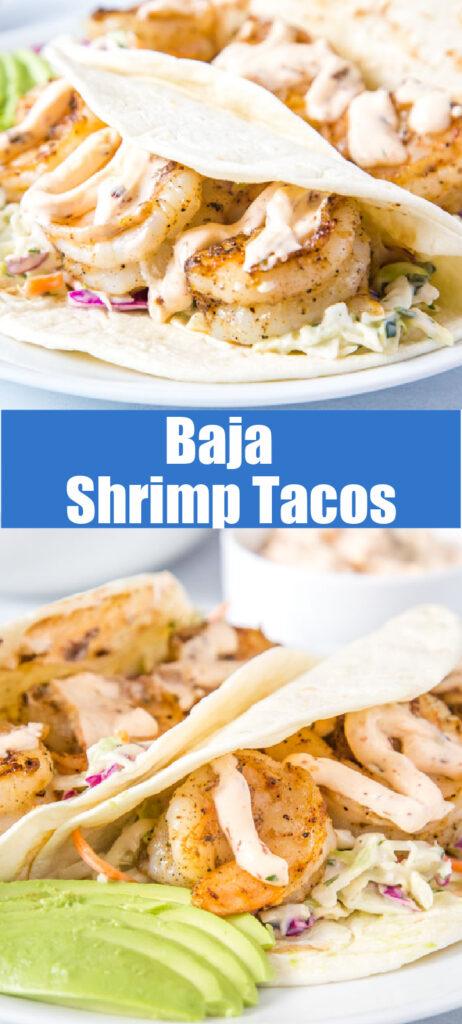 shrimp tacos collage for pinterest