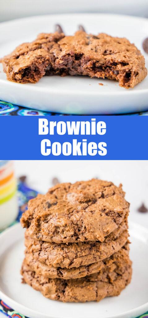 fudgy brownie cookies pinterest collage