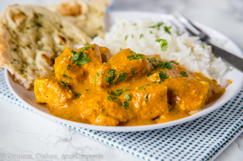 chicken tikka masala on a plate