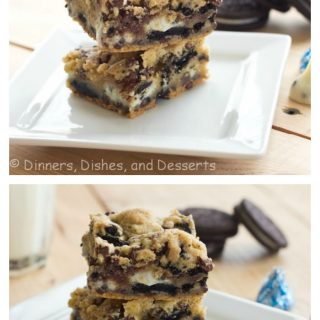 Double Cookies and Cream Kiss Bars