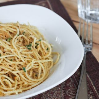 Pasta with Garlic Breadcrumbs