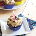 Brownie Cupcakes with Cookie Dough Frosting and Giveaway and an Anniversary