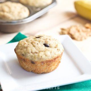 banana yogurt muffins on a plate