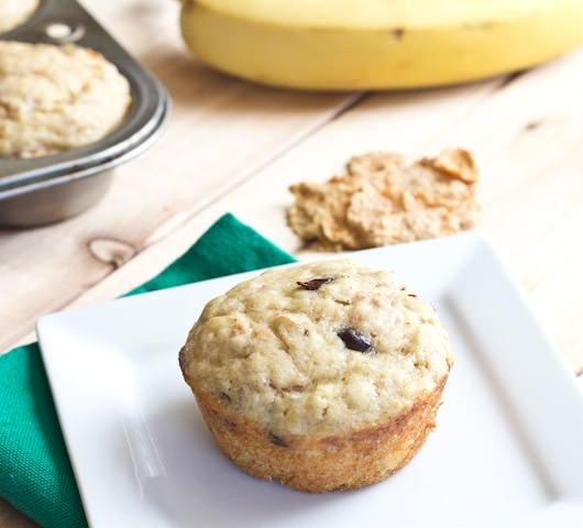 Banana Yogurt Bran Muffins