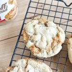 Biscoff Stuffed White Chocolate Chip Cookies