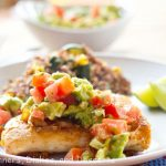 Grilled Chicken with an Avocado Tomato Salsa