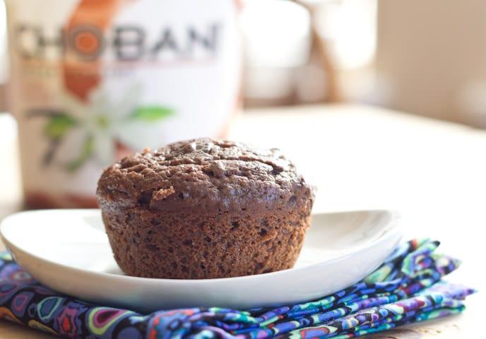 Double Chocolate Chobani Muffins