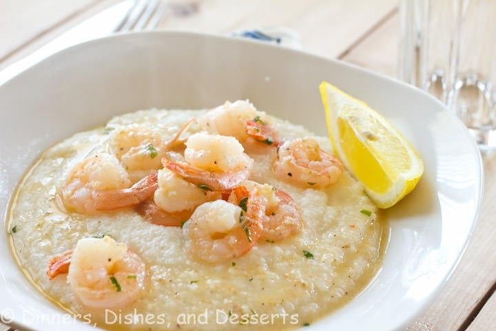 Lemon Garlic Shrimp and Grits
