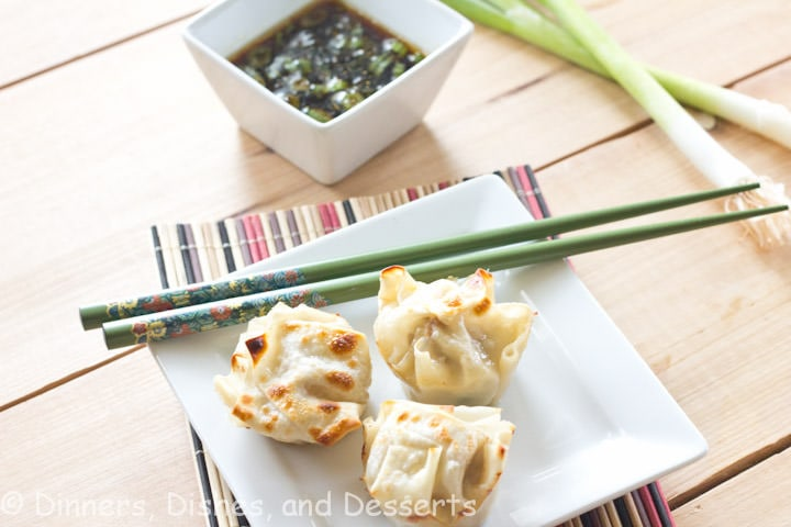 Asian Dumplings w/ Dipping Sauce