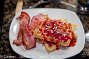waffles and bacojn