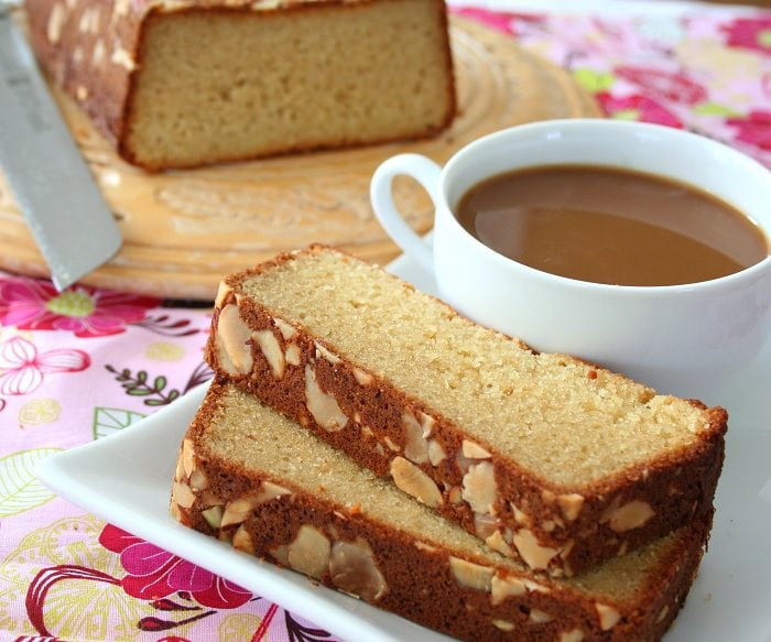 Almond Butter Crusted Pound Cake