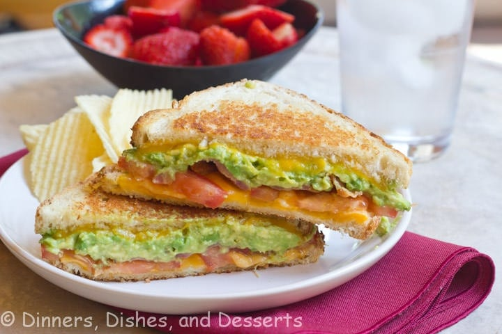 Bacon Avocado Grilled Cheese | Dinners, Dishes, and Desserts