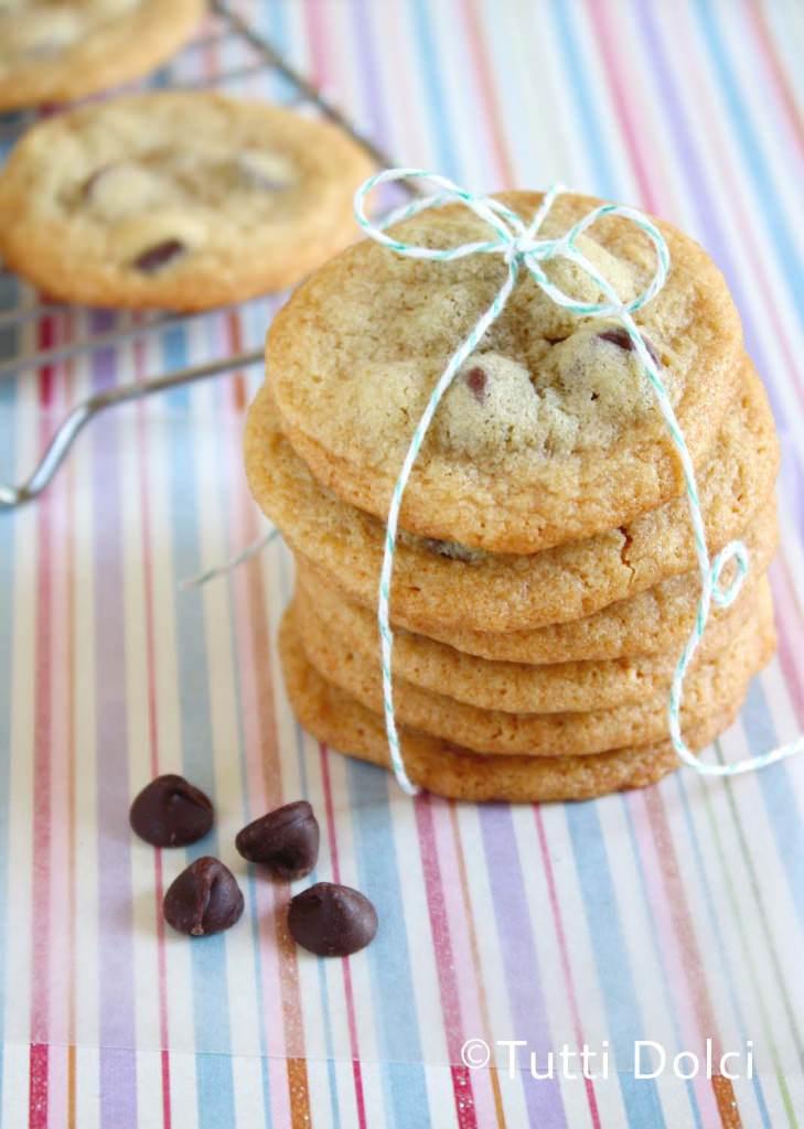 brown butter choco chip malt cookies