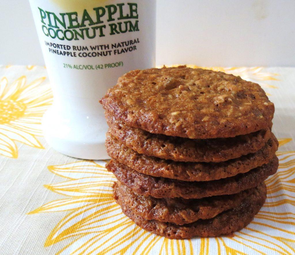 pina colada oatmeal cookies