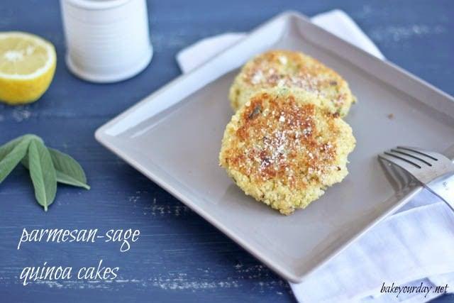 Parmesan Sage Quinoa Cakes