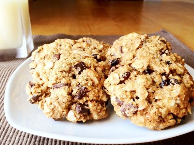 cherry and dark choco chip cookies