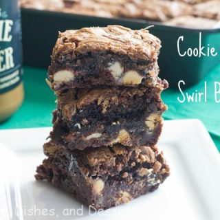 Cookie Butter Swirl White Chocolate Chip Brownies